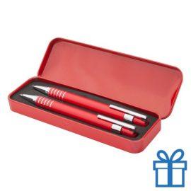 Metalen pennenset vulpotlood rood