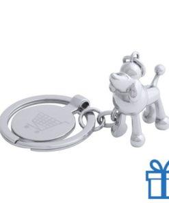 Metalen sleutelhanger winkelwagenmuntje hond  bedrukken