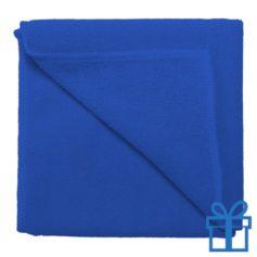 Microvezel handdoek blauw bedrukken