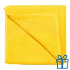 Microvezel handdoek geel bedrukken