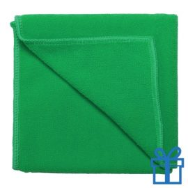 Microvezel handdoek groen bedrukken