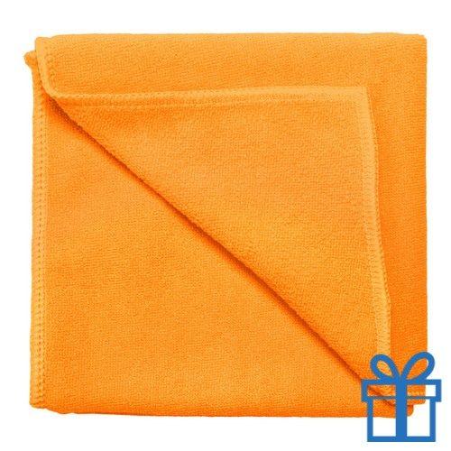 Microvezel handdoek oranje bedrukken