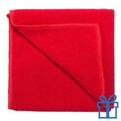 Microvezel handdoek rood bedrukken