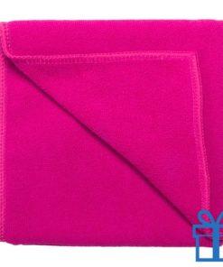 Microvezel handdoek roze bedrukken
