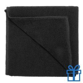 Microvezel handdoek zwart bedrukken