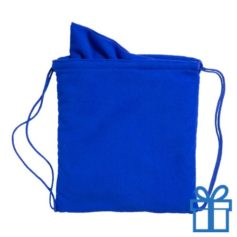 Microvezeltas handdoek blauw bedrukken