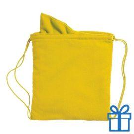 Microvezeltas handdoek geel bedrukken