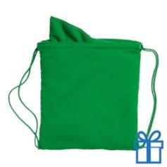 Microvezeltas handdoek groen bedrukken