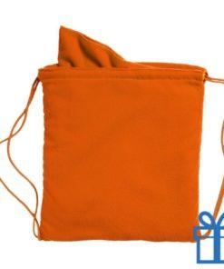 Microvezeltas handdoek oranje bedrukken