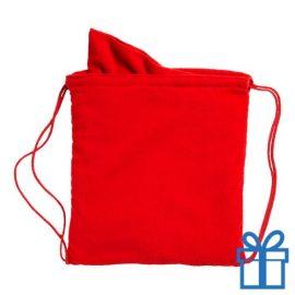 Microvezeltas handdoek rood bedrukken