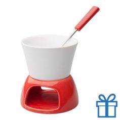 Mini fondueset rood bedrukken
