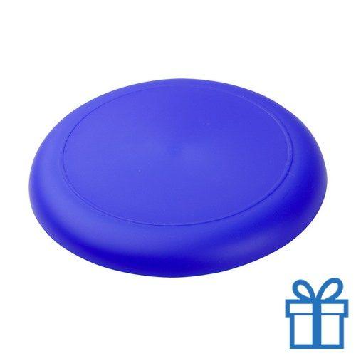 Mini frisbee blauw bedrukken