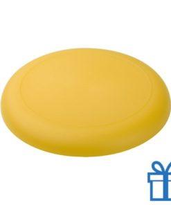 Mini frisbee geel bedrukken