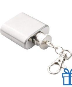 Mini heupfles sleutelhanger bedrukken
