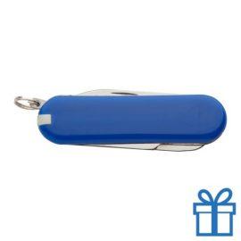 Mini multifunctioneel zakmes blauw bedrukken