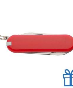 Mini multifunctioneel zakmes rood bedrukken
