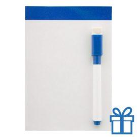 Mini whiteboard magnetisch blauw bedrukken