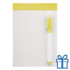 Mini whiteboard magnetisch geel bedrukken