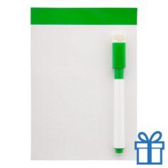 Mini whiteboard magnetisch groen bedrukken