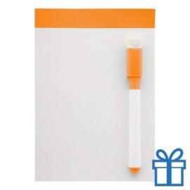 Mini whiteboard magnetisch oranje bedrukken