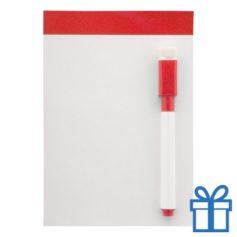 Mini whiteboard magnetisch rood bedrukken