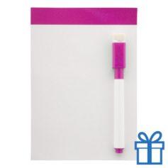 Mini whiteboard magnetisch roze bedrukken