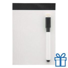 Mini whiteboard magnetisch zwart bedrukken
