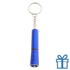 Mini zaklamp LED metaal ring blauw bedrukken