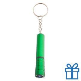 Mini zaklamp LED metaal ring groen bedrukken