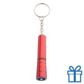 Mini zaklamp LED metaal ring rood bedrukken