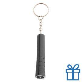Mini zaklamp LED metaal ring zwart bedrukken