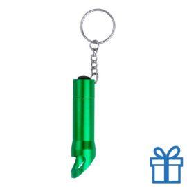 Mini zaklamp aluminium LED flesopener groen bedrukken