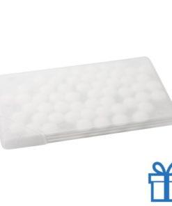 Mint snoepjes doosje plat frosted wit bedrukken