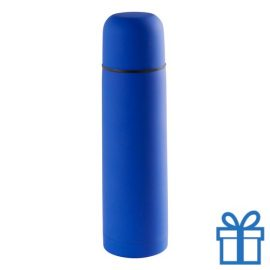 Moderne thermosfles 500ml blauw bedrukken