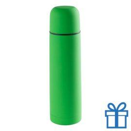 Moderne thermosfles 500ml groen bedrukken