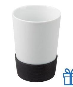 Mok siliconen grip zwart bedrukken