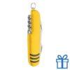 Multi-functioneel zakmes RVS geel bedrukken