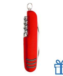 Multi-functioneel zakmes RVS rood bedrukken