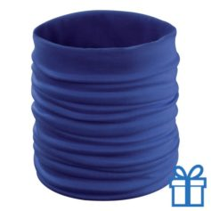 Multi functionele sjaal blauw bedrukken