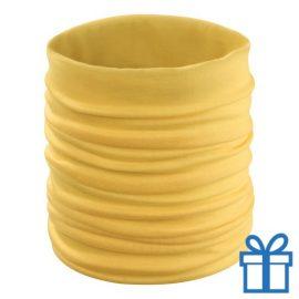 Multi functionele sjaal geel bedrukken