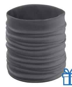 Multi functionele sjaal grijs bedrukken