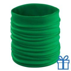 Multi functionele sjaal groen bedrukken