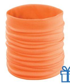 Multi functionele sjaal oranje bedrukken
