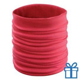 Multi functionele sjaal rood bedrukken