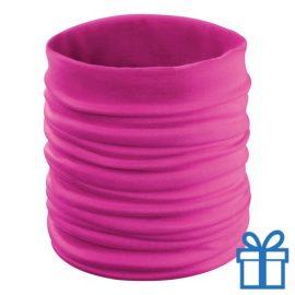 Multi functionele sjaal roze bedrukken