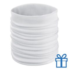 Multi functionele sjaal wit bedrukken