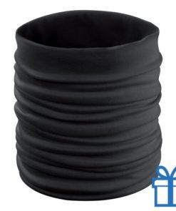Multi functionele sjaal zwart bedrukken