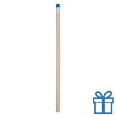 Natuurlijk houten potlood gum blauw