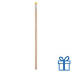 Natuurlijk houten potlood gum geel