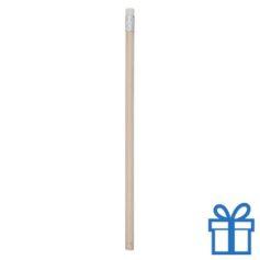 Natuurlijk houten potlood gum wit bedrukken
